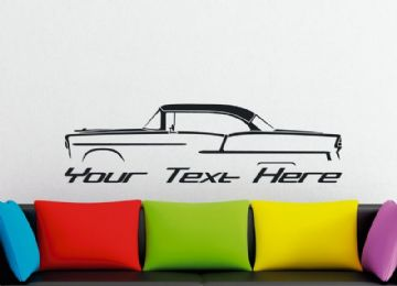 Large Custom car silhouette wall sticker - for 1955 Chevrolet Bel-Air HARDTOP coupe classic  vintage
